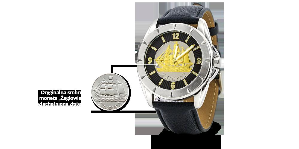 Zegarek z polską srebrną monetą w tarczy - jedynytaki wzór na świecie!