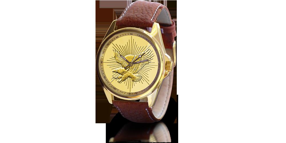 Zegarek amerykańskie ćwierćdolarówki platerowane złotem