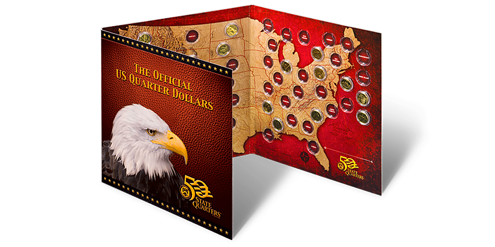Słynne amerykańskie ćwierćdolarówki uszlachetnione czystym złotem!