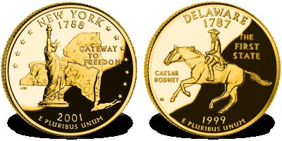 USA Quarters - pamiątkowe monety ćwierćdolarowe