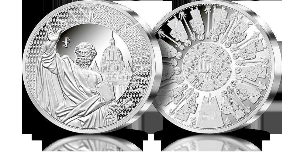 Święty Piotr Apostoł -  srebrny medal