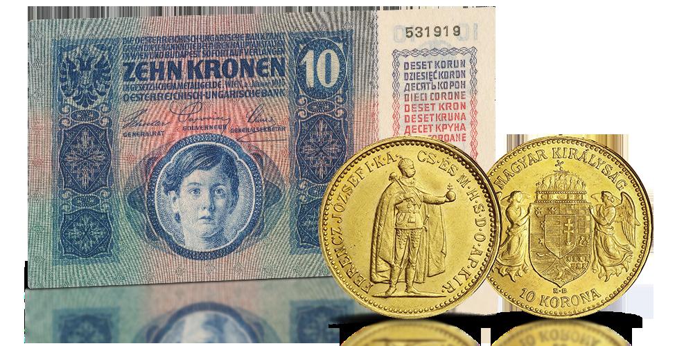 Oryginalna złota moneta cesarza Franciszka Józefa
