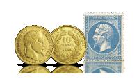wiek złota moneta napoleon III 10 lirów