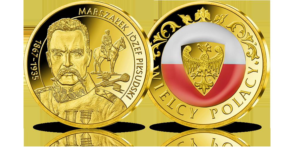 Wielcy Polacy w złocie - Józef Piłsudski
