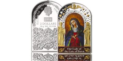 Wizerunek Matki Boskiej Ostrobramskiej upamiętniony w czystym srebrze