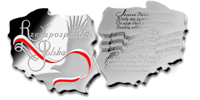 Wyjątkowy srebrny medal w kształcie terytorium Polski