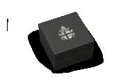 Pudełko z herbem papieskim na wieczku.