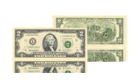 Banknot dwudolarowy, po raz pierwszy wyemitowany w 1976 roku, ze sceną uroczystego ogłoszenia niepodległości w 1776 roku