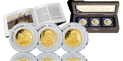 Zestaw srebrnych medali jubileuszowych