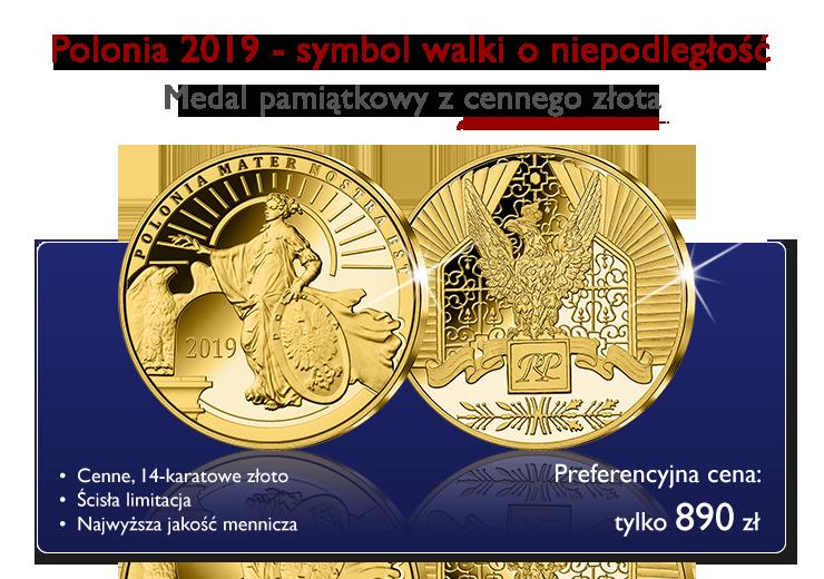 Polonia 2019 w cennym 14-karatowym złocie