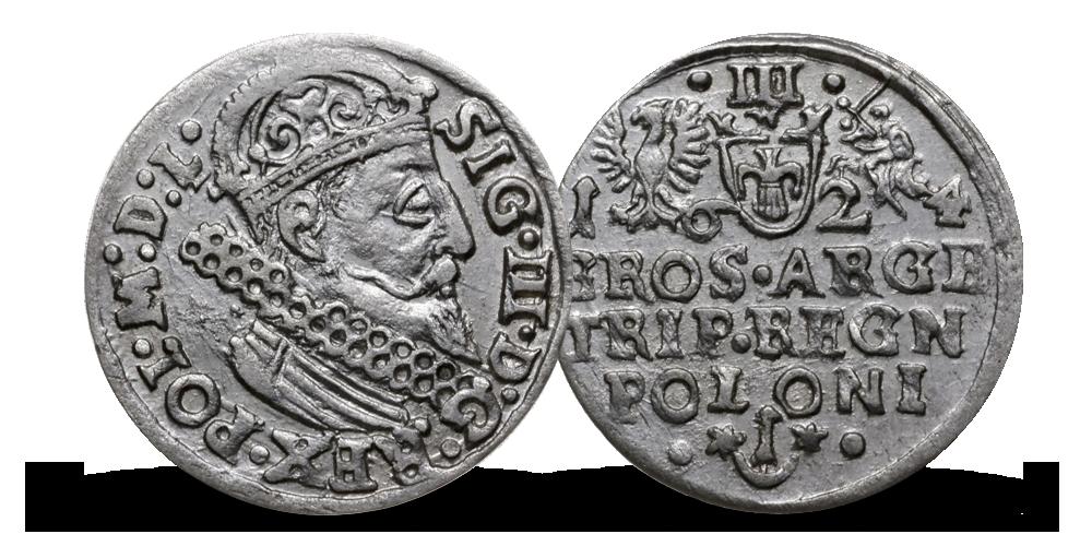 trojak srebrny krakowski Zygmunt III Waza