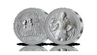 Zdobycie Smoleńska na medalu wybitym w czystym srebrze.